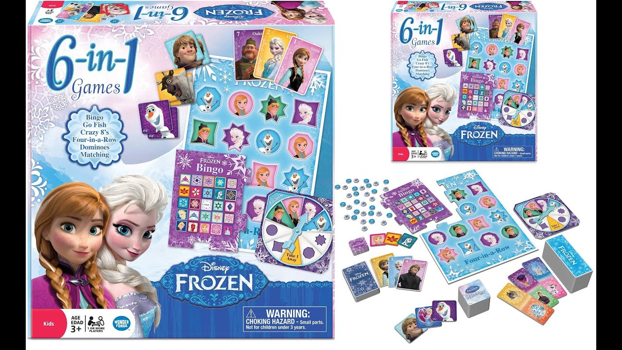 Uncategorized Princess Games For Preschoolers frozen 6 in 1 game collection disney princess elsa anna olaf unboxing review youtube