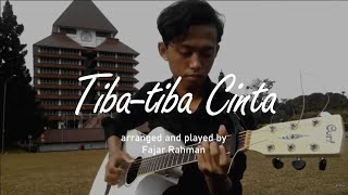 (Maudy Ayunda) Tiba-tiba Cinta - Fajar Rahman - fingerstyle guitar cover with lyric/karaoke