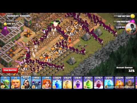 Hardest goblin base attack clash of clans 1000 wizards