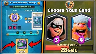 9 WINS 2V2 TOUCHDOWN ELITE CHALLENGE | CLASH ROYALE TOUCHDOWN CHALLENGE | LEGENDARY CHEST OPENING!