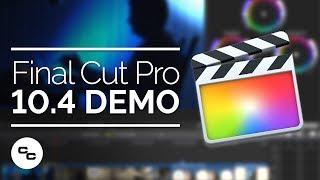 Final Cut Pro X 10.4 Demo - Big Focus On Color Grading