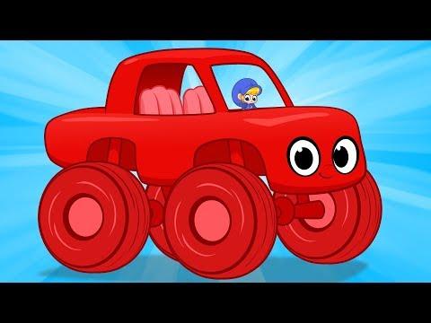 My Magic Giant Car Morphle! Monster Trucks, Cars, Police Cars and Fire Trucks all turn GIANT!!