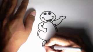 Como dibujar a Barney l How to draw Barney