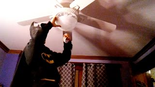 How to add a light to a non lighted ceiling fan DIY