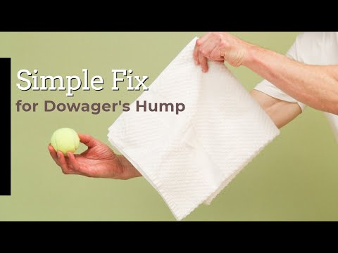 Simple Fix for Neck Hump with Towel & Tennis Ball (Dowager's Hump)