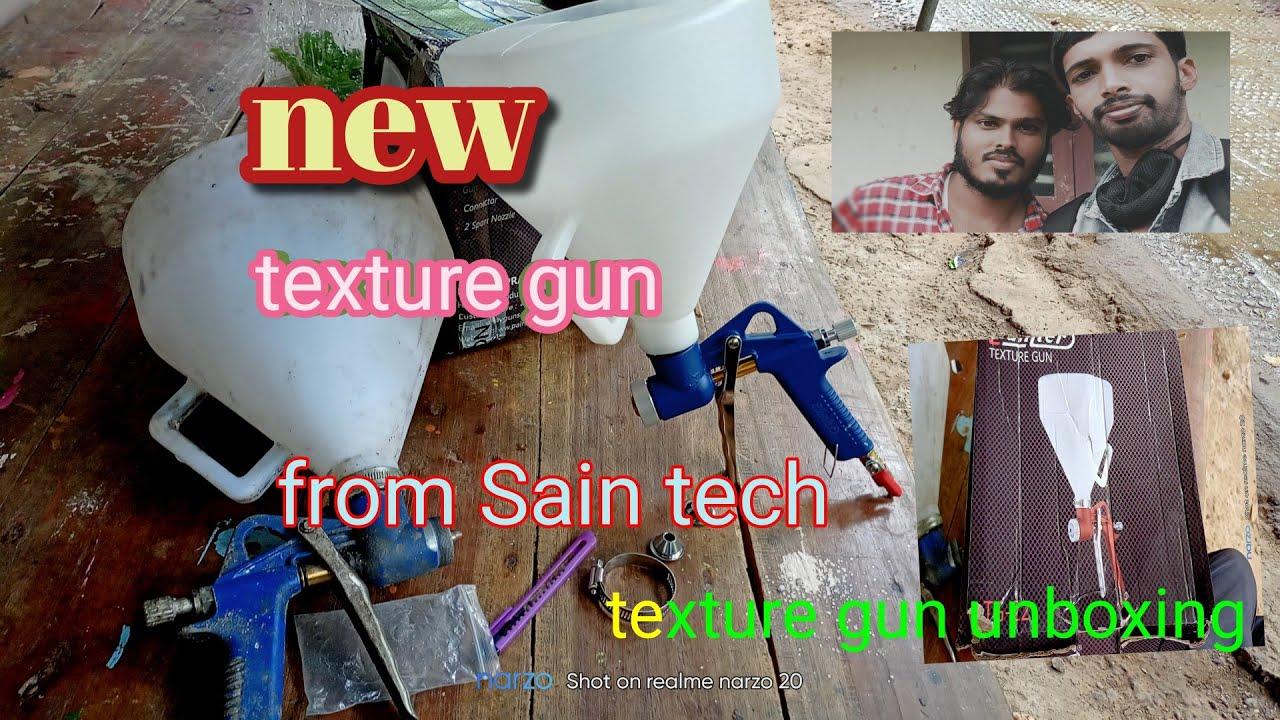 new texture gun from Sain tech unboxing