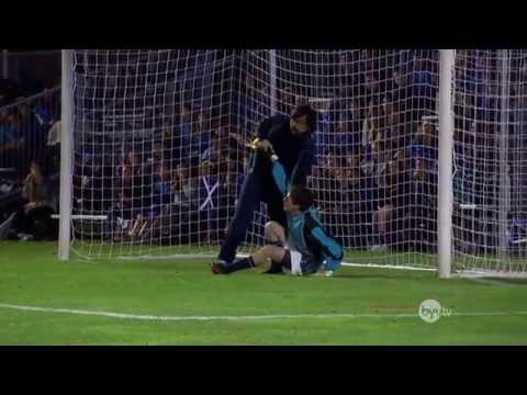 Goalkeeper gets hit in the face (5x) penalty