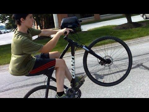 Giant Mountain Bike Wheelie Practice