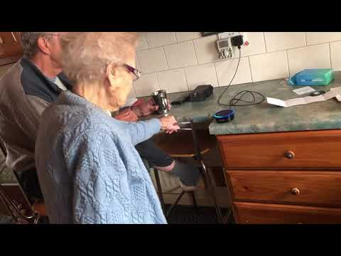 96 year old Grandma with Amazon Alexa