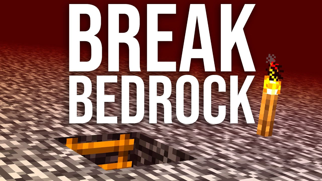 How To Break Bedrock And Nether Roof In Minecraft 1 14