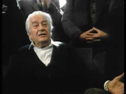 Sergiu Celibidache - Aveti cu totii o enorma vina!!!
