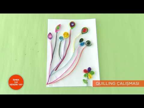 İSMEK ile Kendin Yap | Quilling Çalışması