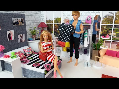 Barbie Ken Video ❤️  Life in a Dream House💕  Morning Bedroom Bathroom Routine