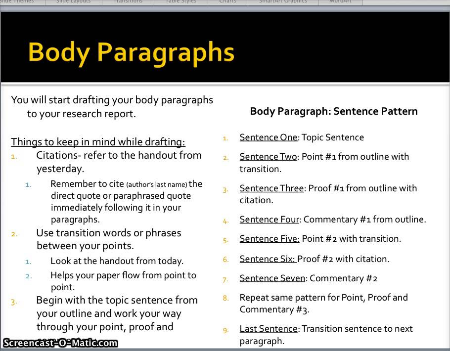 Research Paper Drafting Body Paragraphs - Youtube