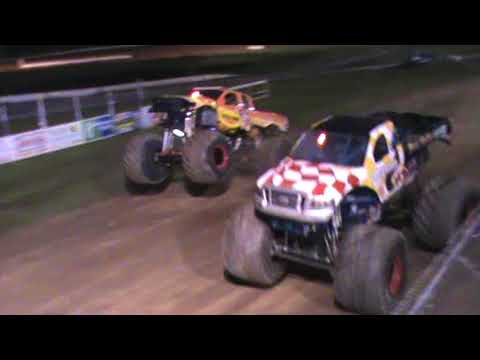 All American Monster Truck Tour - Black Stallion vs Rislone Defender (Racing)