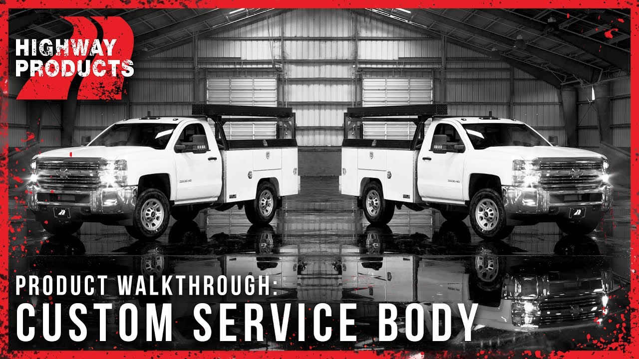 Highway Products Custom Service Body Youtube