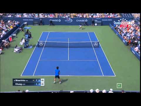 Stanislas Wawrinka vs Chung Hyeon US OPEN 2015