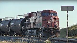 CP Train Spotting HD: CP 9644 8749 & DPU 8761 Pulls CP 201 South At Ellerslie 1/2 7/14/18