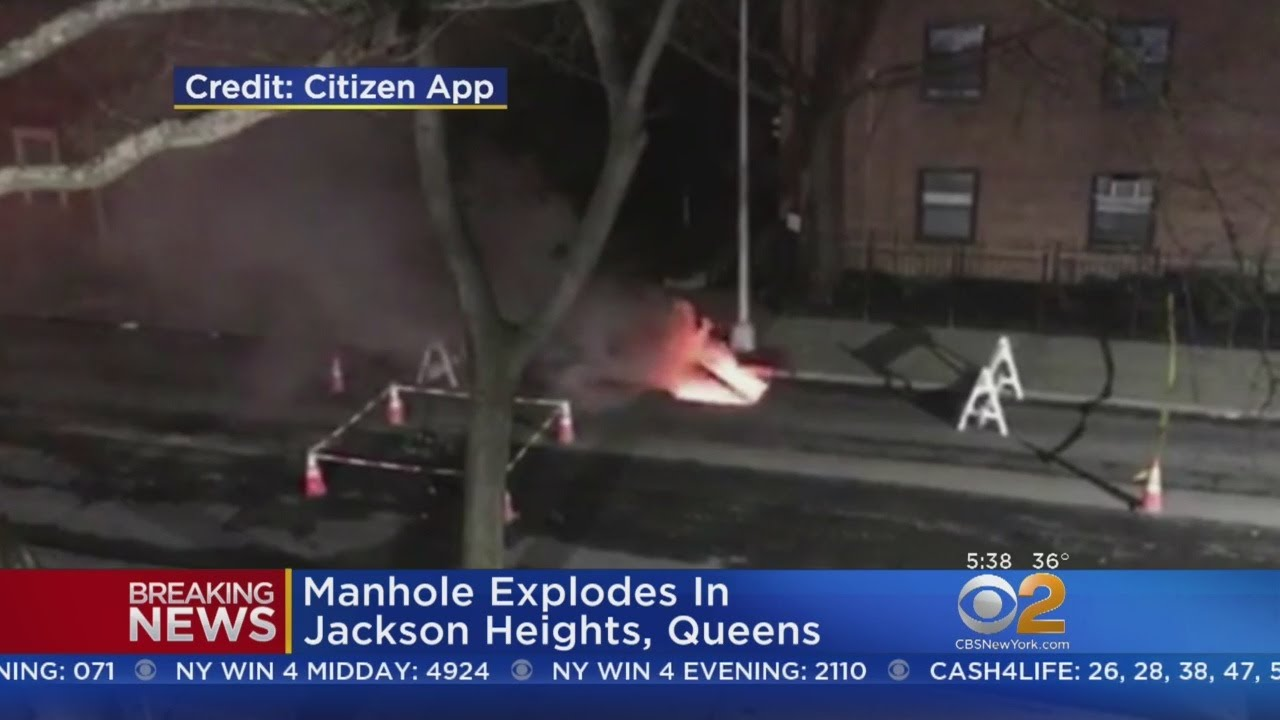 Manhole Explodes In Jackson Heights, Queens
