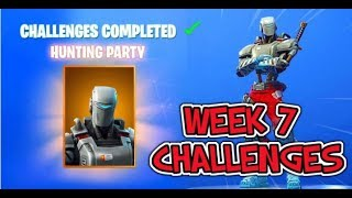 Unlocking Hunting Party Skin and Reaching Tier 100 Fortnite Week 7 Challenges