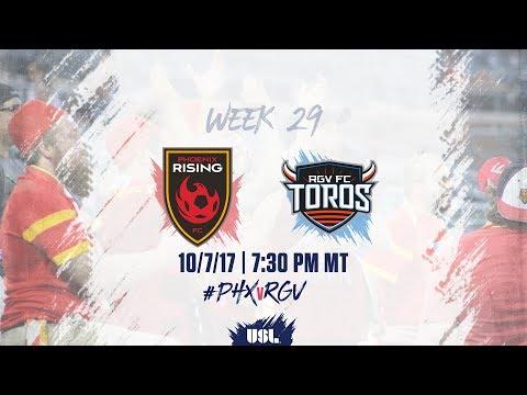 USL LIVE - Phoenix Rising FC vs Rio Grande Valley FC 10/7/17