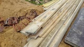 Монолитная плита/трамбовка песка/выставление опалубки