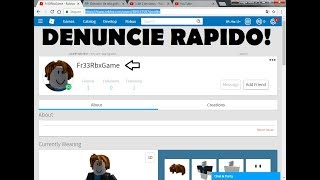 REPORT THIS GUY FOR STEALING ACCOUNTS AT ROBLOX (THE BACK OF THE CHANNEL)