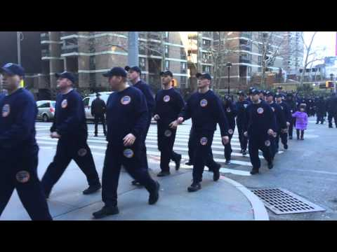 RARE GLIMPSE OF THE NEXT NEW YORK STATE COURT OFFICERS CLASS TRAINING ON FULTON ST. IN MANHATTAN.
