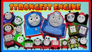 THE BIGGEST STRONGEST ENGINE RACE #35 THOMAS AND FRIENDS TRACKMASTER Toy Trains for Kids