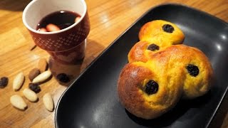 Lussebullar (plural of lussebulle) are sweet buns baked around Chri...