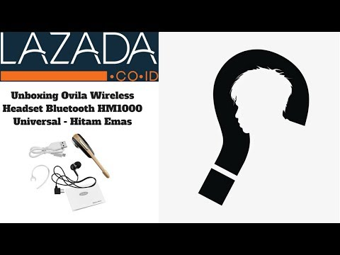 Unboxing Headset Bluetooth Lazada