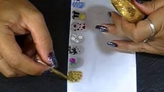 Como hacer Stickers para uñas …