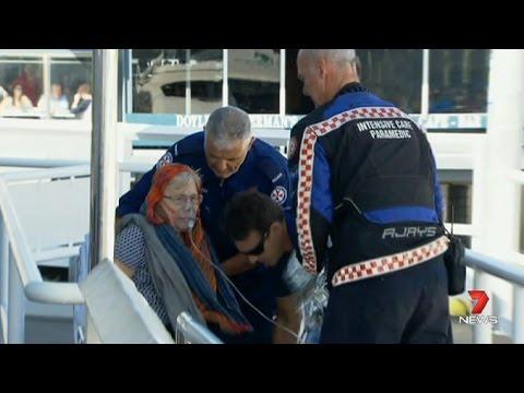 Elderly Women falls from Sydney Ferry