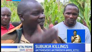 Subukia residents in shock as a woman hacks her husband