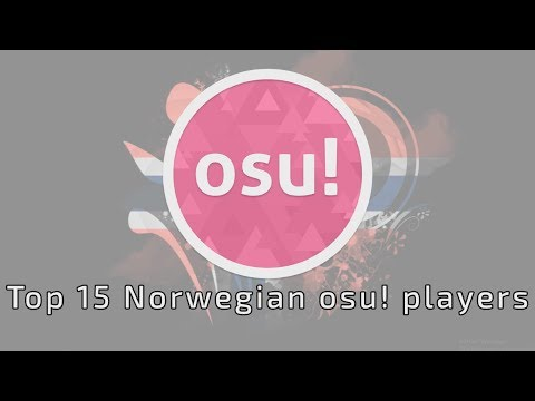 Top 15 osu!standard players of Norway, 2016-2017