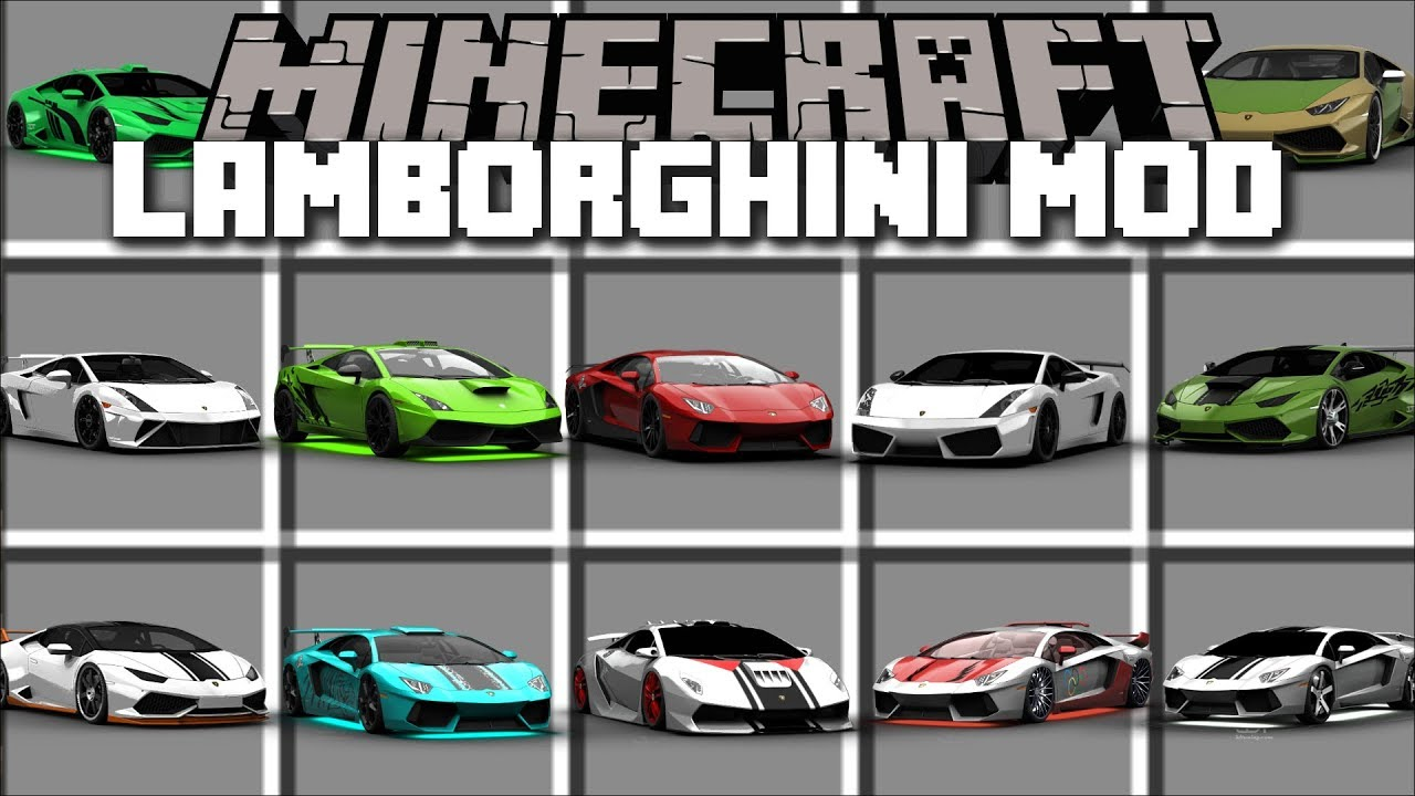 minecraft lamborghini mod drive fast and expensive cars around minecraft minecraft youtube. Black Bedroom Furniture Sets. Home Design Ideas