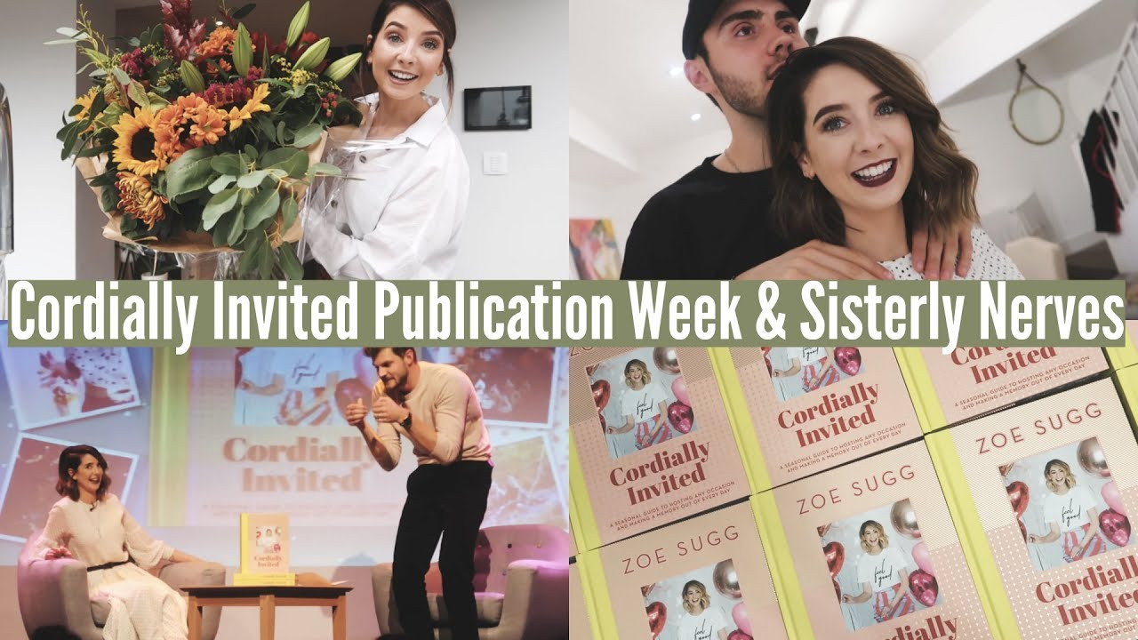 Cordially Invited Publication Week Sisterly Nerves Weekly Vlog