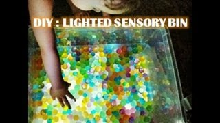 DIY: Lighted Sensory Bin - Tactile Play for Autism