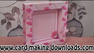 How To Make A Photo Frame Www.card-making-downloads.com