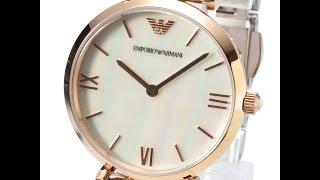 emporio armani ar1683 ladies watch classic two tone silver rosegold review アルマーニ ローズゴールド シルバー レディース