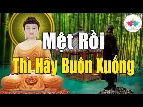 Nghe Phật Dạy - Mệt Mỏi Và Chán Nản Sẽ Tan Biến Khi Bài Giảng Này 1 Lần Trong Đời #Rất Hay