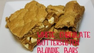 White Chocolate Butterscotch Blondie Bars with CookingAndCrafting