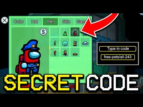 SECRET CODE TO GET FREE PETS IN AMONG US! (iOS/ANDROID/PC)