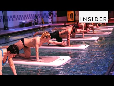 A floating fitness class in NYC will test your balance