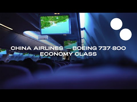 CHINA AIRLINES BOEING 737-800 ECONOMY I HONG KONG - TAIPEI