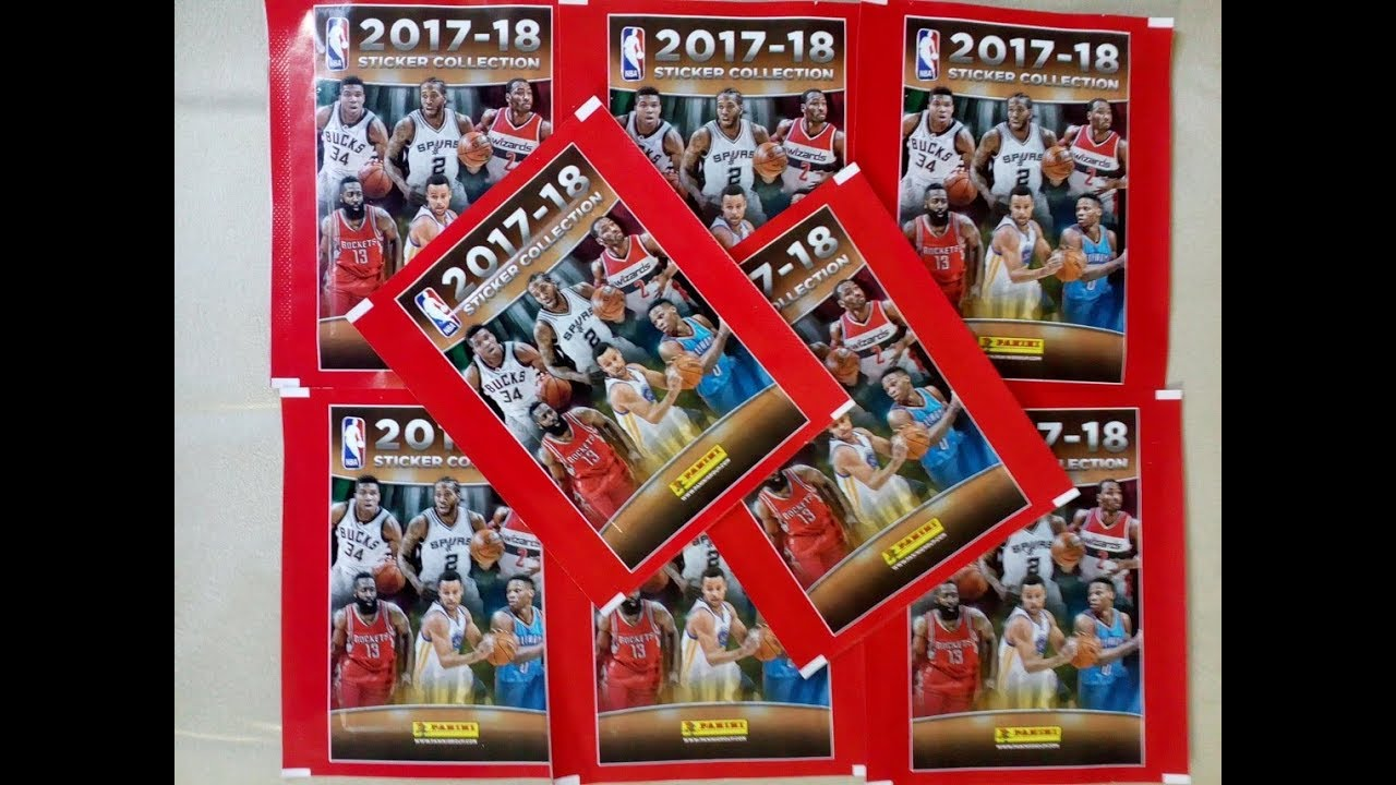 7272bea0e89 2017 18 NBA Stickers 8 Packs Break - YouTube