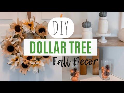 DIY DOLLAR TREE FALL DECOR 2019 | Farmhouse Fall Trends | Fall Home Decor DIY