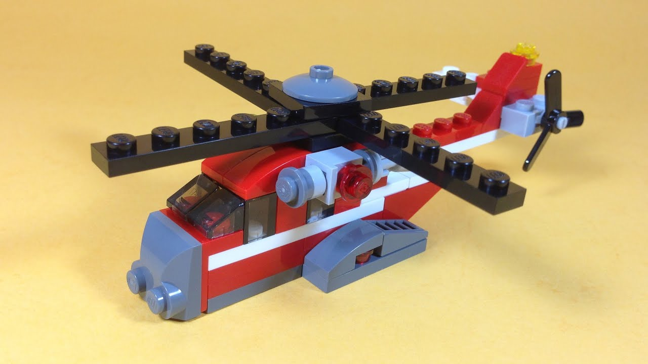 How To Build Lego Red Thunder Helicopter Lego Creator 31013 Youtube