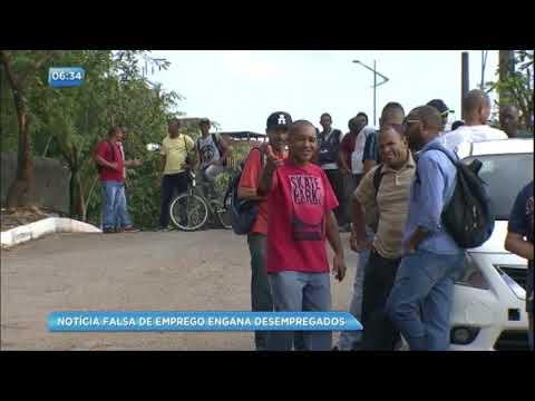 Notícia falsa de emprego engana multidão na Bahia