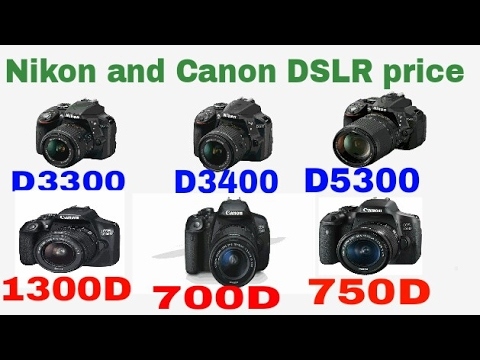Nikon Dslr Or Canon Dslr Price In India Hindi 2018 Youtube